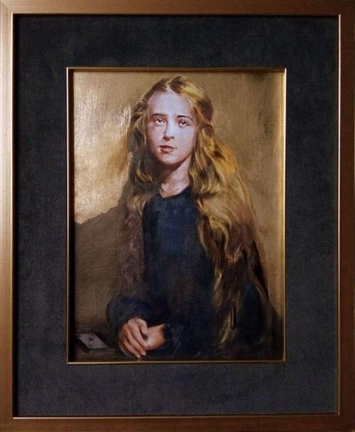 Obraz do salonu artysty Jan Dubrowin pod tytułem Wróżka Gadałka