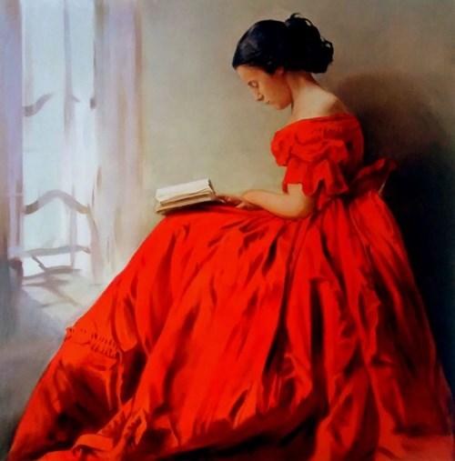 Obraz do salonu artysty Jan Dubrowin pod tytułem Lektura