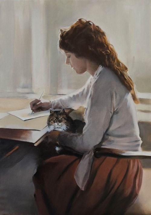 Obraz do salonu artysty Jan Dubrowin pod tytułem Kocie bajki