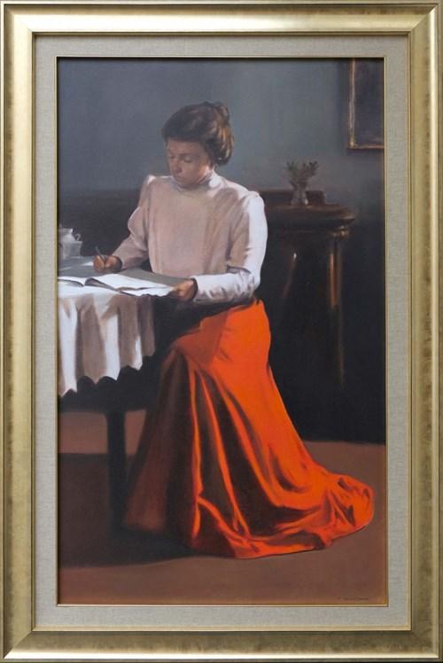 Obraz do salonu artysty Jan Dubrowin pod tytułem Pamiętnik