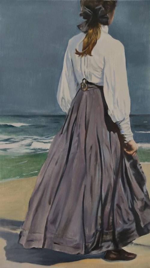 Obraz do salonu artysty Jan Dubrowin pod tytułem Sina dal
