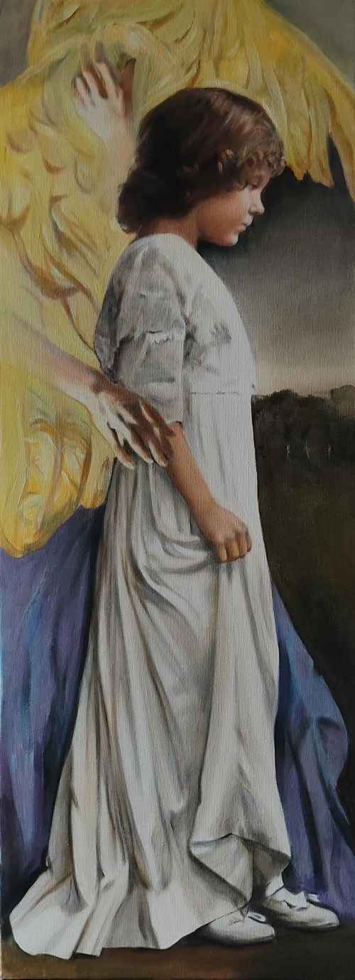 Obraz do salonu artysty Jan Dubrowin pod tytułem Anioł Stróż