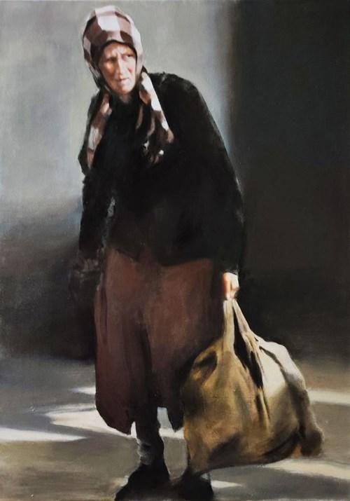 Obraz do salonu artysty Jan Dubrowin pod tytułem Bagaż