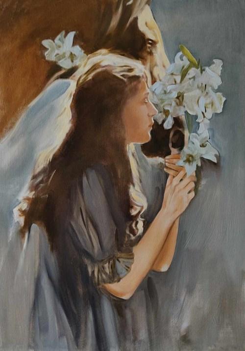 Obraz do salonu artysty Jan Dubrowin pod tytułem W galopie