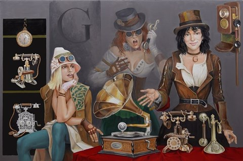 Obraz do salonu artysty Andrejus Kovelinas pod tytułem Gramophone