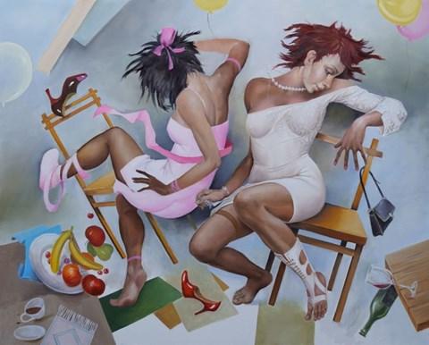 Obraz do salonu artysty Andrejus Kovelinas pod tytułem Party