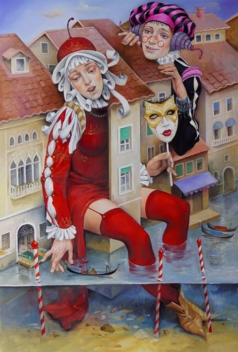Obraz do salonu artysty Andrejus Kovelinas pod tytułem Venecianos
