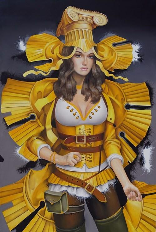 Obraz do salonu artysty Andrejus Kovelinas pod tytułem Yellow Butterfly