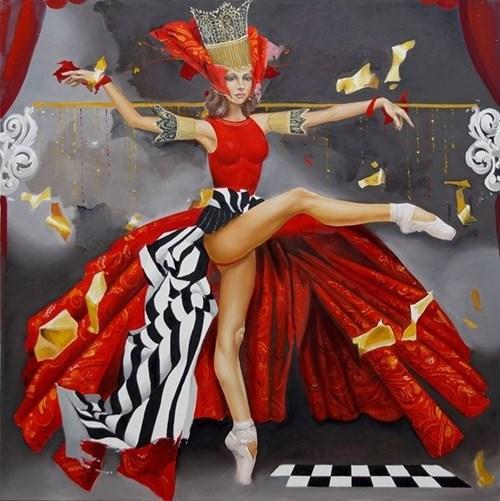 Obraz do salonu artysty Andrejus Kovelinas pod tytułem Cinderella