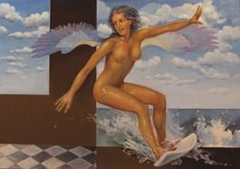 Obraz do salonu artysty Andrejus Kovelinas pod tytułem Surfing