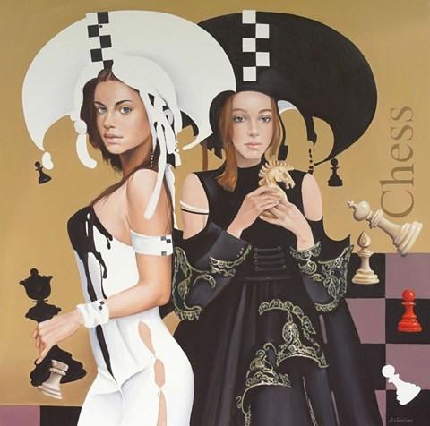 Obraz do salonu artysty Andrejus Kovelinas pod tytułem Chess Girls