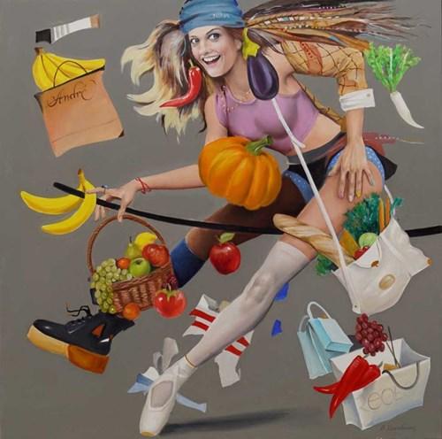 Obraz do salonu artysty Andrejus Kovelinas pod tytułem Shopping