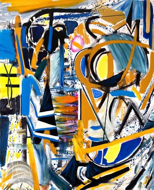 Obraz do salonu artysty Maciej Cieśla pod tytułem Abstrakcja inspirowana muzyka Amon Tobin