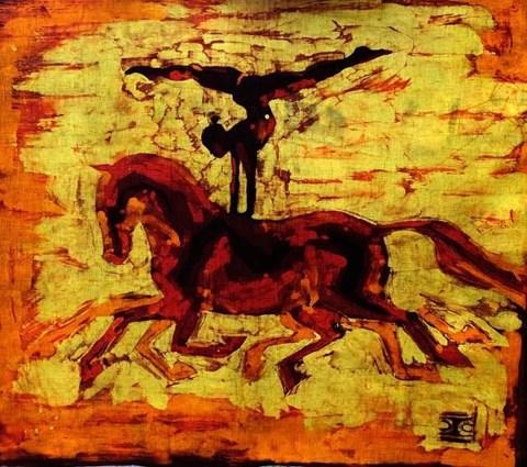 Obraz do salonu artysty Joanna Czubak pod tytułem Woltyżerka