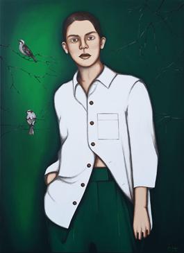 Obraz do salonu artysty Małgorzata Rukszan pod tytułem W głębi II