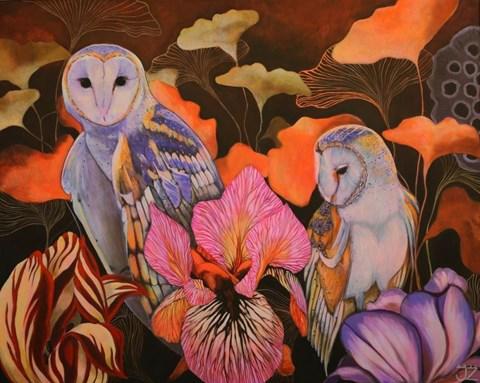 Obraz do salonu artysty Janina Zaborowska pod tytułem Sowy