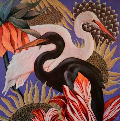 Obraz do salonu artysty Janina Zaborowska pod tytułem Czaple