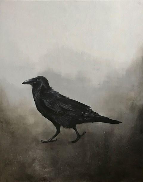 Obraz do salonu artysty Klaudia Choma pod tytułem Kruk