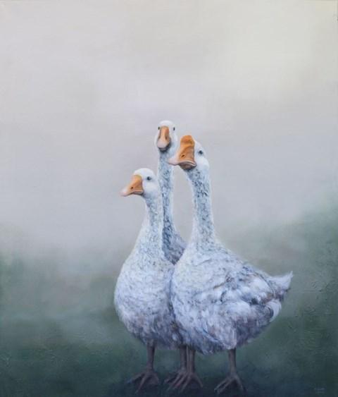 Obraz do salonu artysty Klaudia Choma pod tytułem Gąski, gąski, do domu!