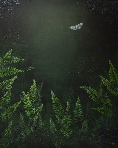 Obraz do salonu artysty Klaudia Choma pod tytułem Szukając kwiatu paproci