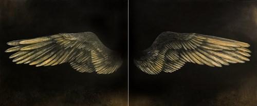 Obraz do salonu artysty Klaudia Choma pod tytułem Nauka latania (dyptyk)