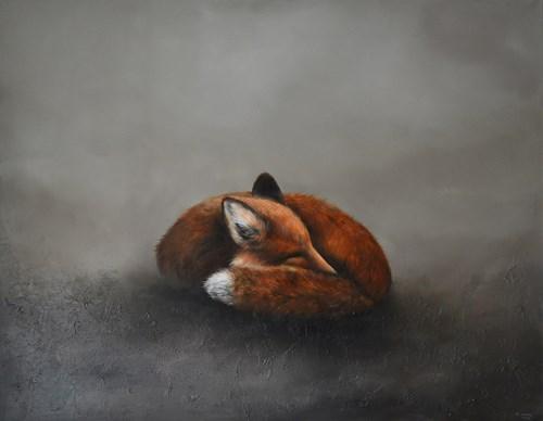 Obraz do salonu artysty Klaudia Choma pod tytułem O czym śnią lisy?