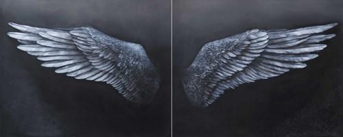 Obraz do salonu artysty Klaudia Choma pod tytułem Sen o lataniu (dyptyk)