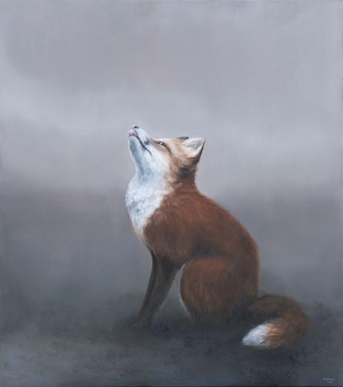 Obraz do salonu artysty Klaudia Choma pod tytułem Lisek Chytrusek