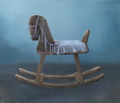 Obraz do salonu artysty Klaudia Choma pod tytułem Konik na biegunach