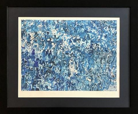 Obraz do salonu artysty Edward Dwurnik pod tytułem Błękitne pogo w Jarocinie