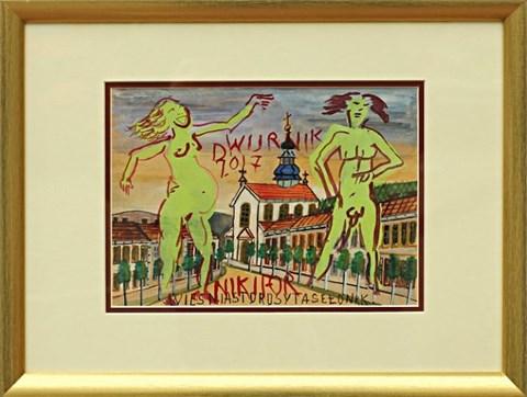 Obraz do salonu artysty Edward Dwurnik pod tytułem Wieś Miasto Rosytasełonrk