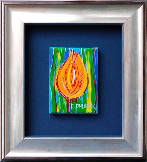 Obraz do salonu artysty Edward Dwurnik pod tytułem Pomarańczowy tulipan
