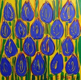 Granatowe tulipany