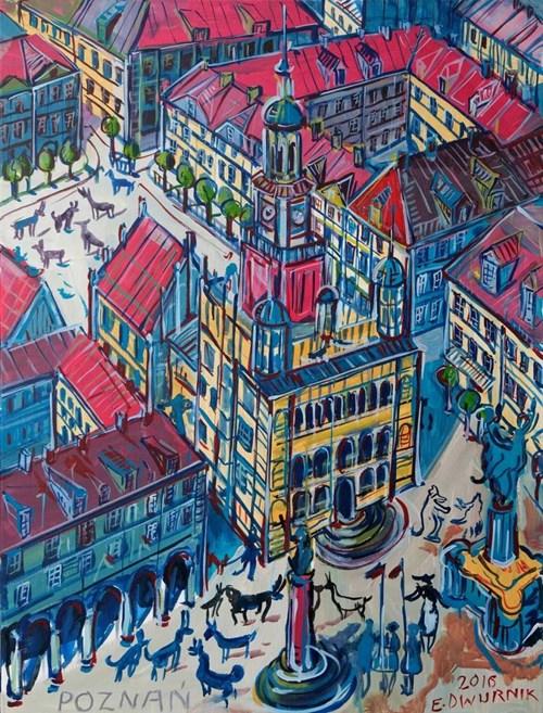 Obraz do salonu artysty Edward Dwurnik pod tytułem Poznań