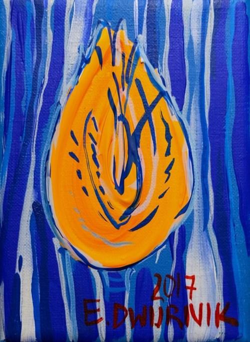 Obraz do salonu artysty Edward Dwurnik pod tytułem Żółty tulipan