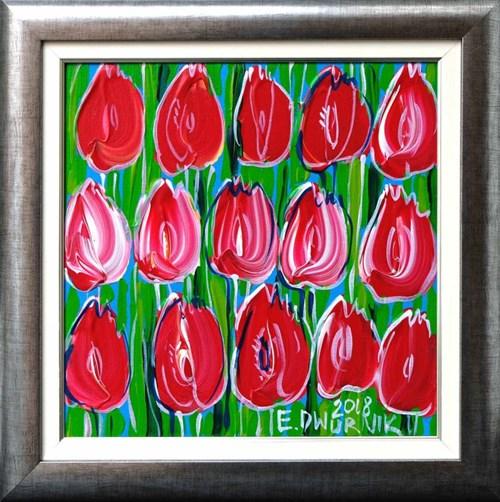 Obraz do salonu artysty Edward Dwurnik pod tytułem Czerwone tulipany