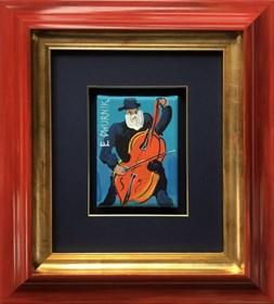 Obraz do salonu artysty Edward Dwurnik pod tytułem Kontrabasista