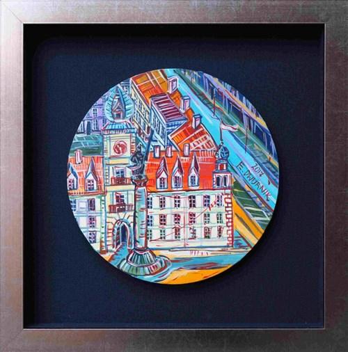Obraz do salonu artysty Edward Dwurnik pod tytułem Plac zamkowy (tondo)