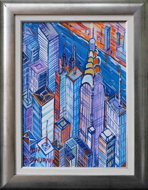 Obraz do salonu artysty Edward Dwurnik pod tytułem Nowy Jork