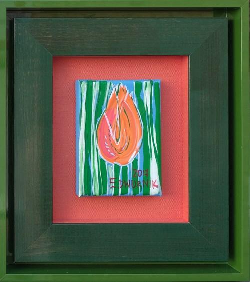 Obraz do salonu artysty Edward Dwurnik pod tytułem Mały czerwony tulipan