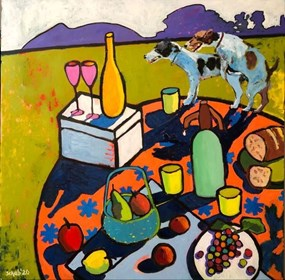 Obraz do salonu artysty David Schab pod tytułem Śniadanie grzechu warte