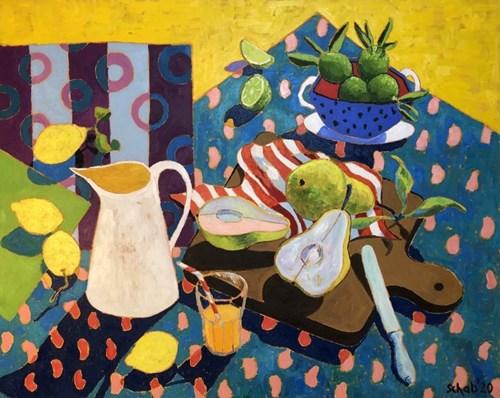Obraz do salonu artysty David Schab pod tytułem Gruszki Williamsa