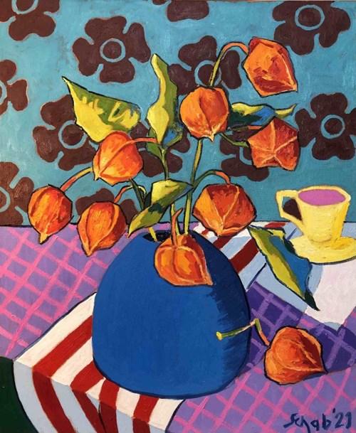 Obraz do salonu artysty David Schab pod tytułem Chińskie latarenki