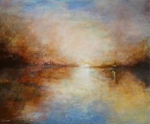 Obraz do salonu artysty Katarzyna Kałdowska pod tytułem W stronę światła
