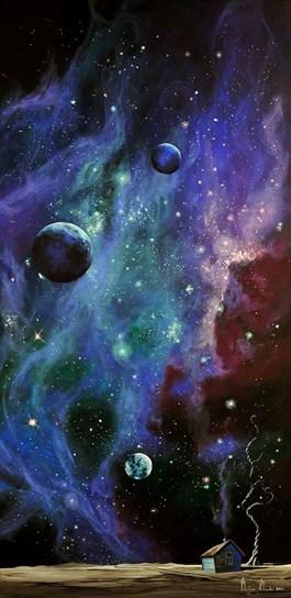 Obraz do salonu artysty Martyna Mączka pod tytułem Domek w kosmosie