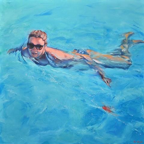 """Obraz do salonu artysty Rafał Knop pod tytułem Madame Ev 09 z cyklu """"Swimming Pool"""""""