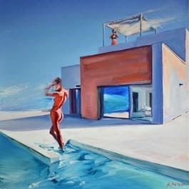 Living room painting by Rafał Knop titled Madame Vangel 04