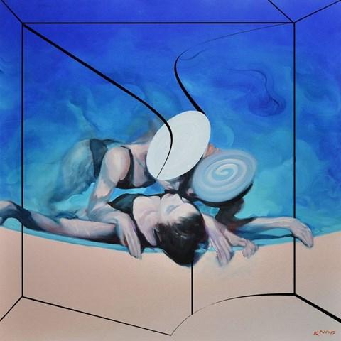Obraz do salonu artysty Rafał Knop pod tytułem Ultramarine XXI z cyklu Swimming Pool