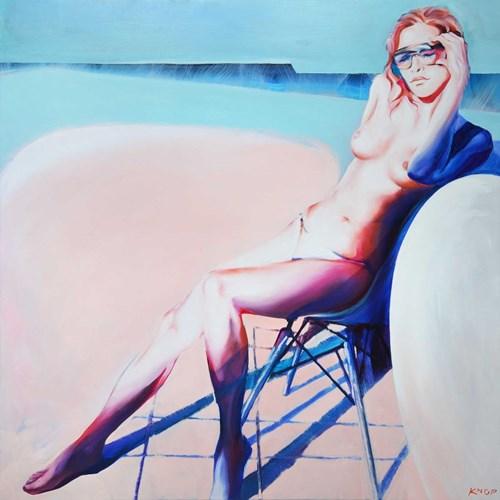 Obraz do salonu artysty Rafał Knop pod tytułem Madame Ev XXV z serii Swimming Pool