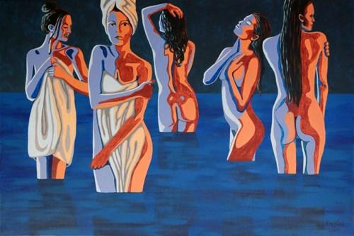 Obraz do salonu artysty Robert Krężlak pod tytułem Zatoka